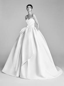 bow drape ballgown  dress photo 1