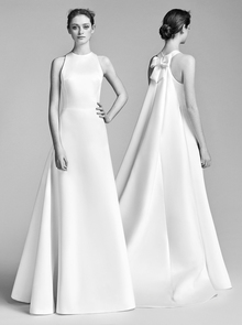 watteau train gown  dress photo