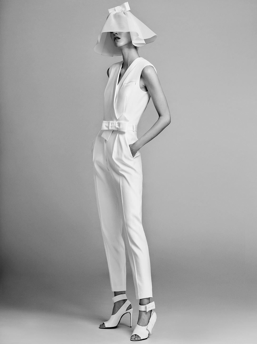 tailored tuxedo jumpsuit  dress photo