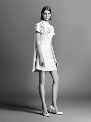 couture flower mini  dress photo