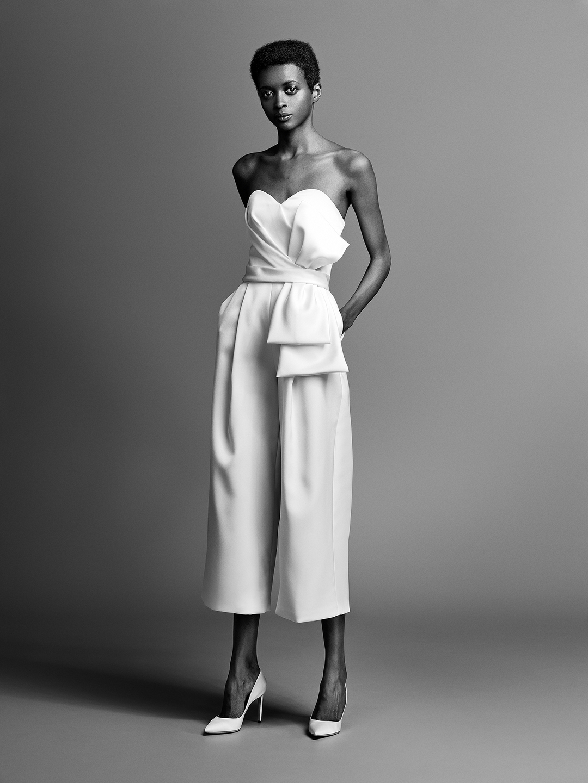 dramatic bow pantsuit  dress photo