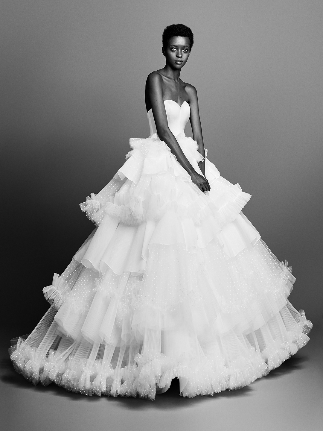 tulle patch work gown  dress photo