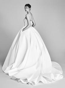 bow drape ballgown  dress photo 2