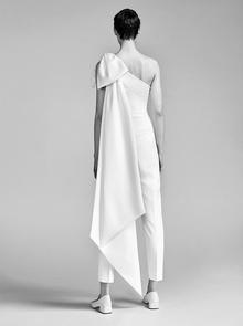 one shoulder bow jumpsuit  dress photo 2