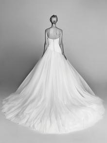 diagonal cut tulle gown  dress photo 2