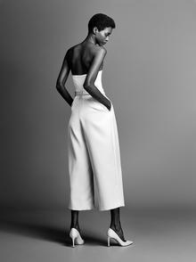 dramatic bow pantsuit  dress photo 2