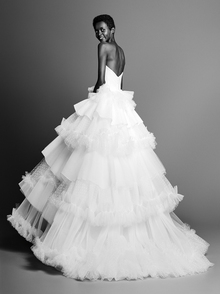 tulle patch work gown  dress photo 2
