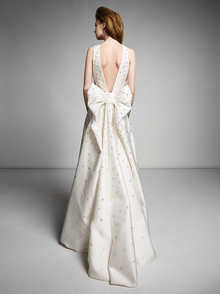 bow back crystal gown  dress photo 2