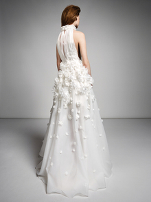 ethereal millefeuille flower gown  dress photo 2
