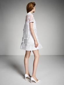 lace patchwork polo mini  dress photo 2