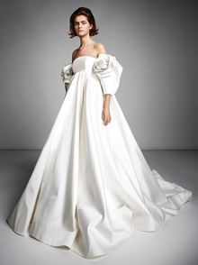 rose sleeve empire gown  dress photo 2
