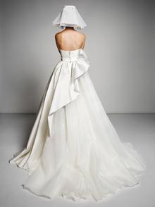 sculptural volant swirl gown  dress photo 2