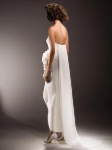 draped rose column  dress photo 2