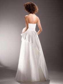 draped rose diagonal cut gown dress photo 2