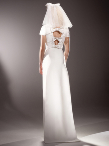 immaculate bow back column  dress photo 2