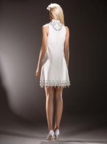 immaculate swirl neckline mini  dress photo 2