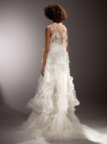 immaculate tulle swirl gown  dress photo 2