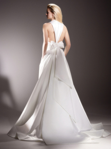 inverted v back bow gown  dress photo 2