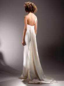 sculptural wrap drape  dress photo 2