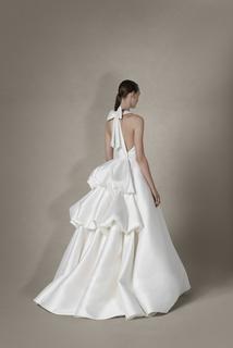 sculptural tiered gown dress photo 2