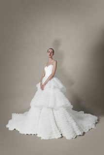 tulle dream tiered gown  dress photo 2
