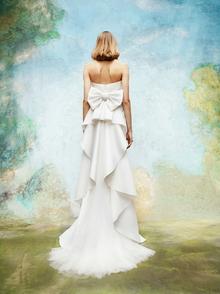 cascading back volant bow dress  dress photo 2
