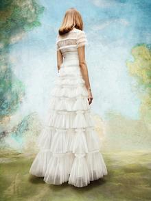 embellished tulle ruffle gown  dress photo 2