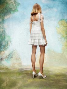frosted lace mini dress  dress photo 2