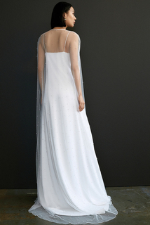 marlowe cape dress photo 2