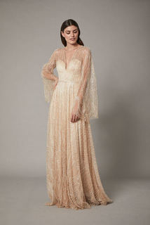rosa gown - nude dress photo 1