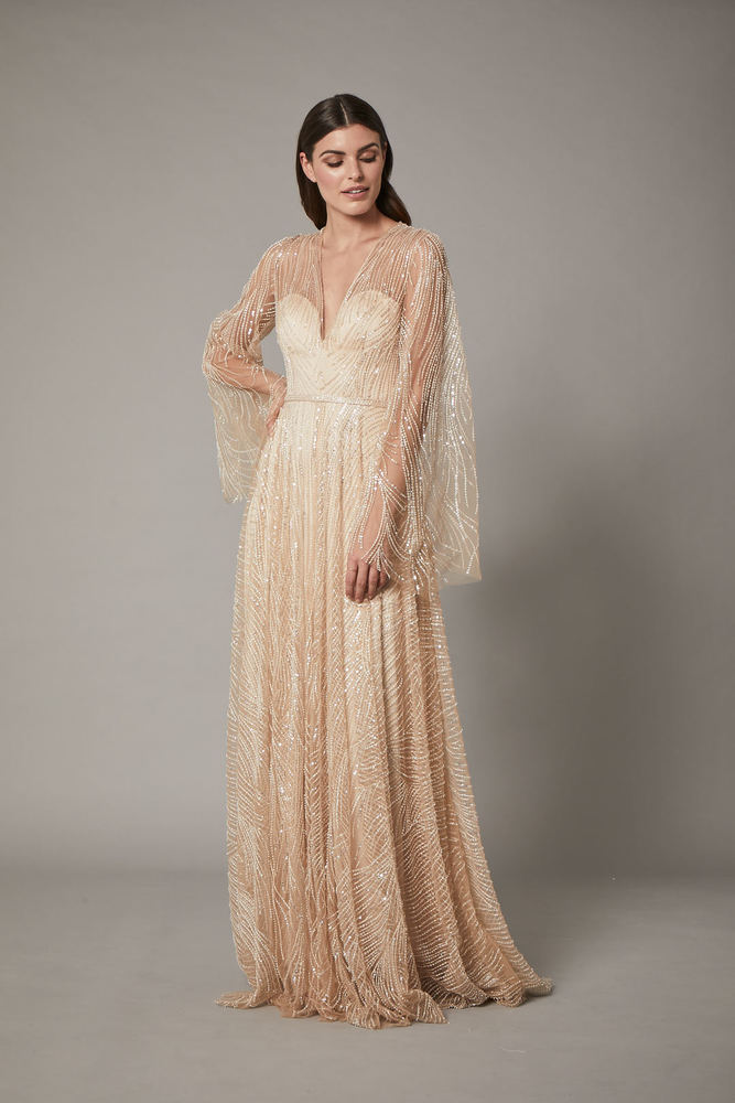 rosa gown - nude dress photo
