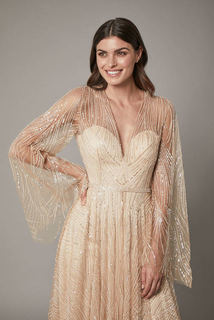 rosa gown - nude dress photo 2