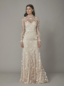 rosari gown - nude dress photo 3