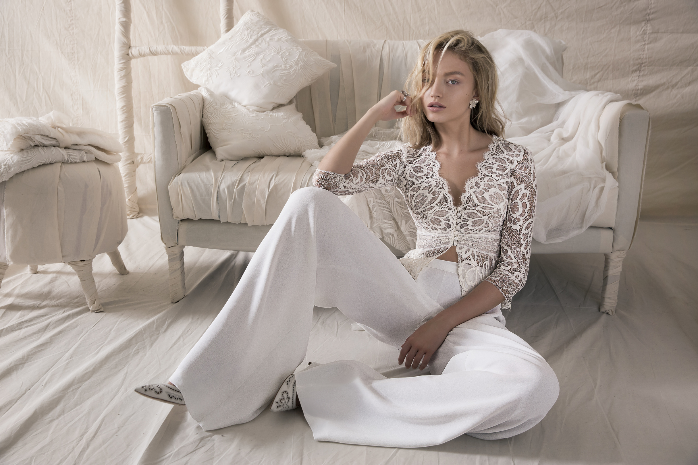 danielle top & evening trousers dress photo
