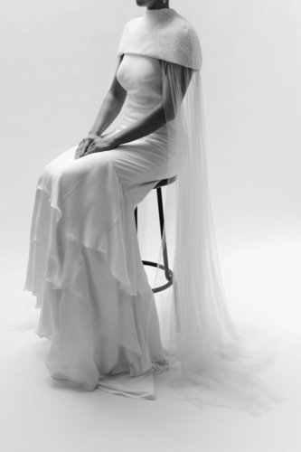 taylor cape dress photo
