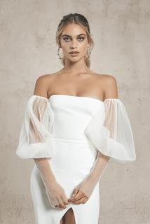 tulle sleeves dress photo 1