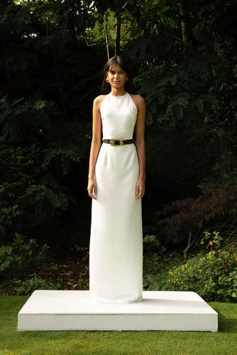 style 028 // silk halter + syle 029 // column skirt dress photo