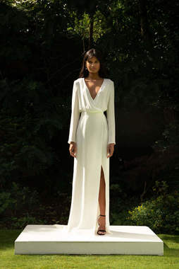 style 021 // silk wrap dress dress photo