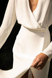 style 021 // silk wrap dress dress photo 2