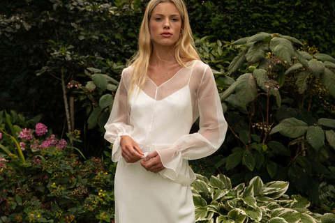 style 032 // silk organza overlay dress photo 1