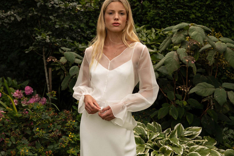 style 032 // silk organza overlay dress photo