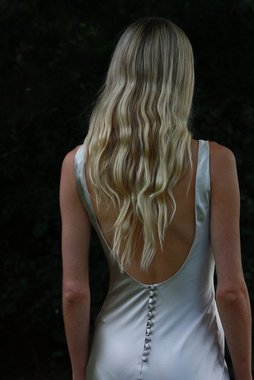 style 008 // champagne slip  dress photo