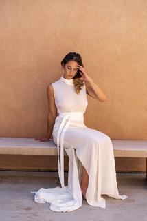 luna sash dress photo 1