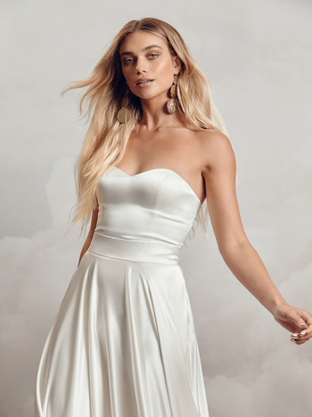 darla bodice satin dress photo