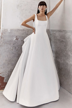draped bow a-line  dress photo