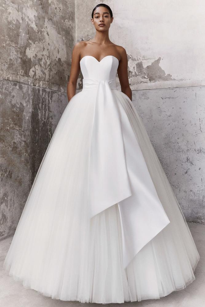 graphic sash ballgown dress photo