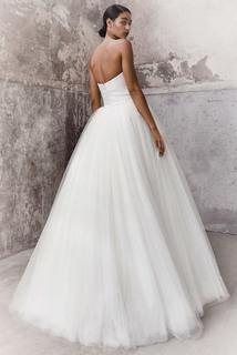graphic sash ballgown dress photo 2