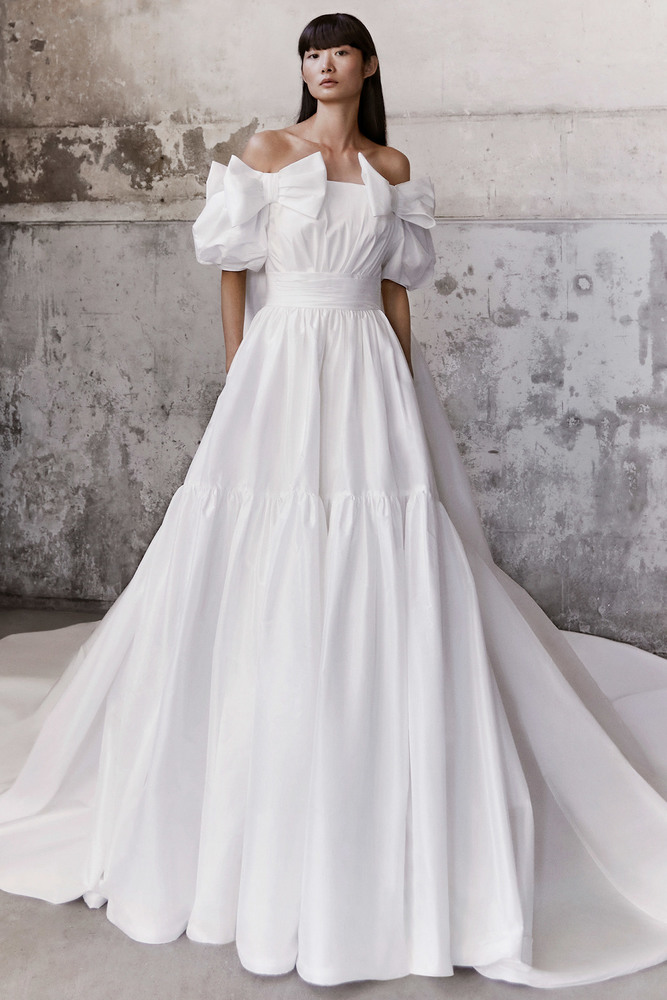 royal bow taffeta gown dress photo