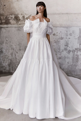 royal bow taffeta gown dress photo
