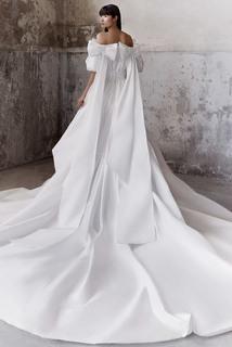 royal bow taffeta gown dress photo 2
